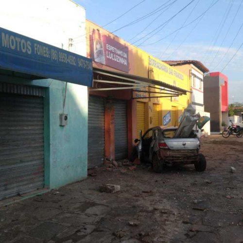 Homem embriagado furta carro e causa acidente em cidade do Piauí