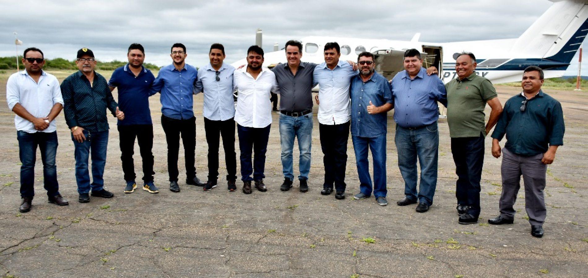 Prefeito de Alegrete acompanha visita do senador Ciro Nogueira em Fronteiras e reivindica perfuração de sete poços