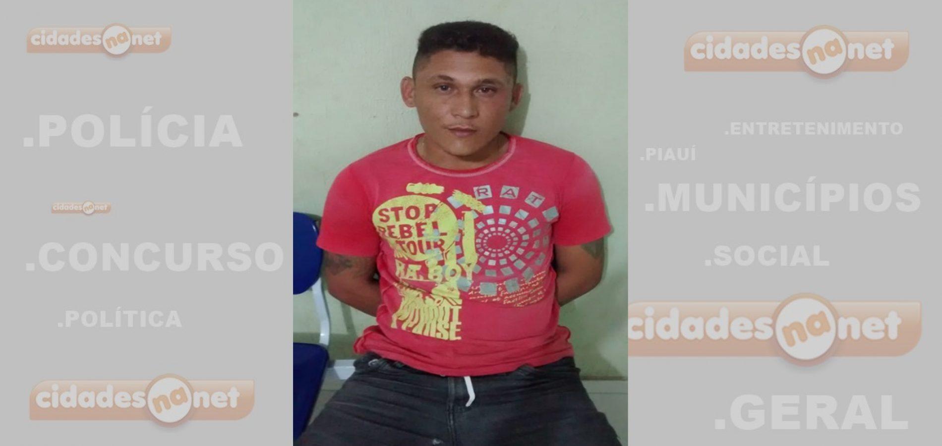 Polícia Militar prende homem acusado de roubos e furtos em São Julião