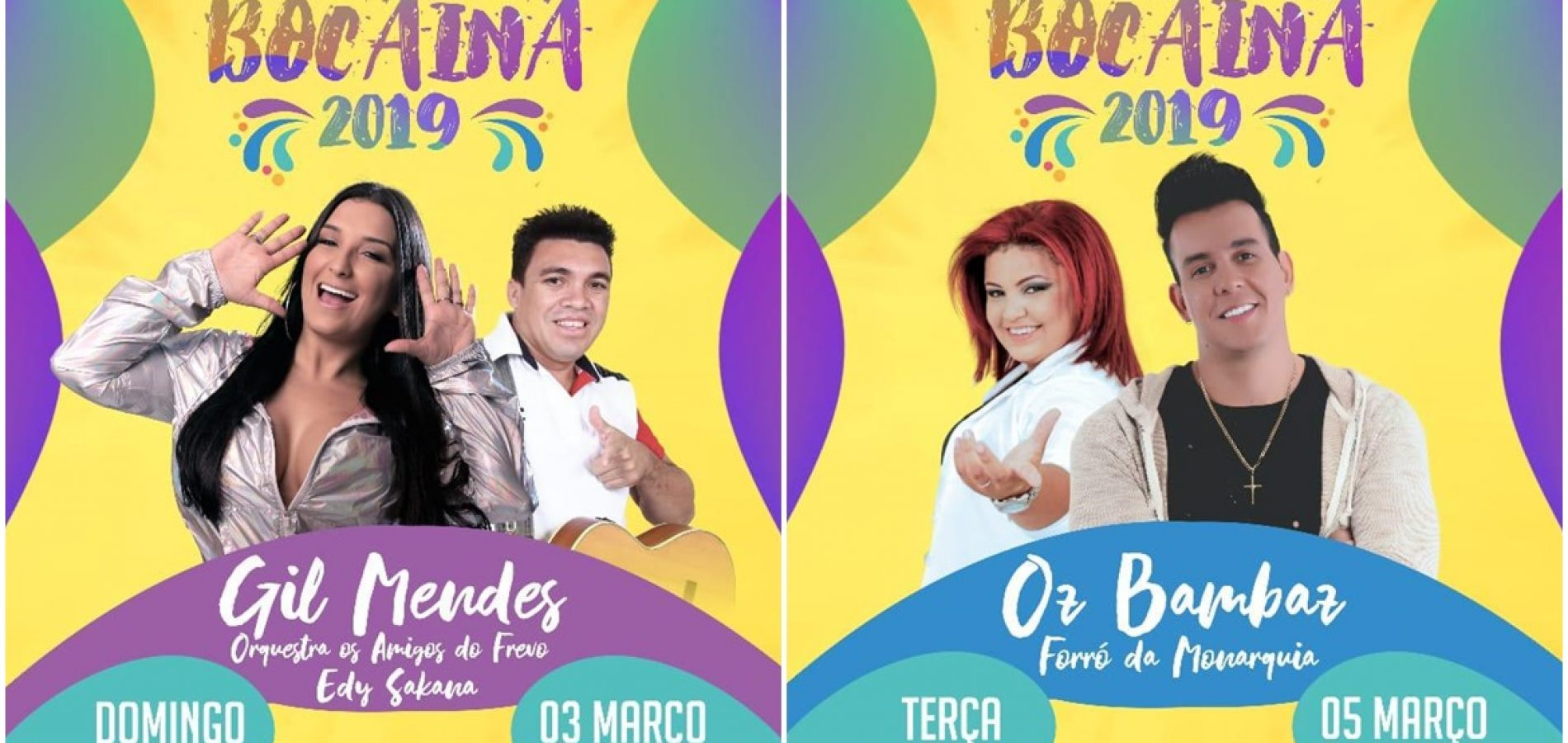Prefeitura de Bocaina anuncia atrações da festa mais alegre do Brasil, o Carnaval. Confira!