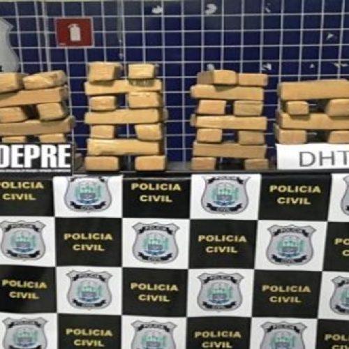 Polícia Civil apreende mais de 100 kg de drogas em casa abandonada no Piauí