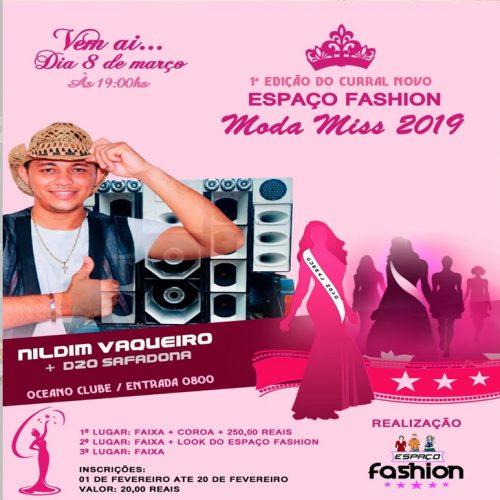 Loja Espaço Fashion promoverá desfile de moda em Curral Novo do Piauí