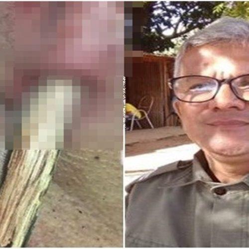 Policial fica com estaca 'cravada' no pescoço após pular cerca de arame