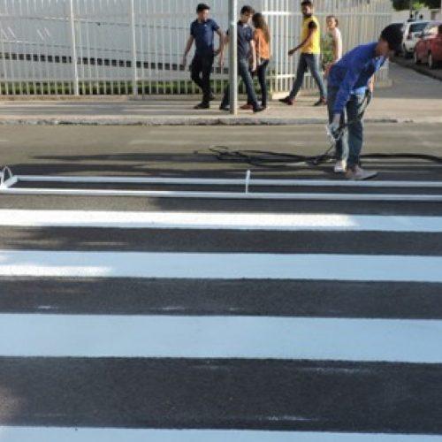 Em Picos, sinalização de ruas começa ser revitalizada neste domingo (17)