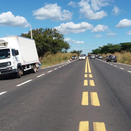 PRF registra três acidentes em menos de dez minutos na BR 316