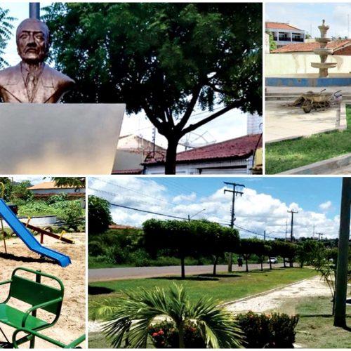 Em Picos, Semam avança em obras de revitalização de praças e áreas verdes
