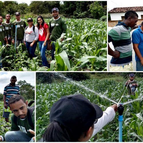 Produtores agrícolas de Ipiranga do Piauí participam da 2ª etapa do curso de aspersão convencional