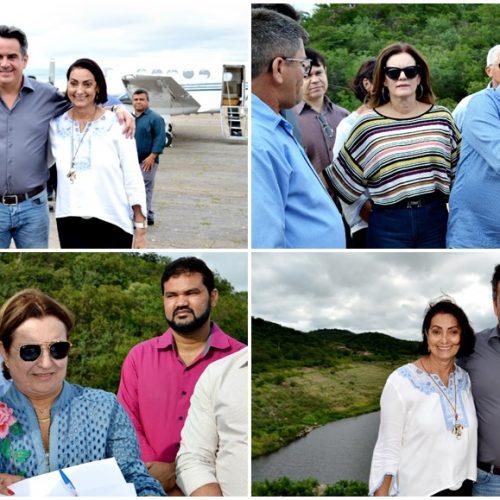 Senador Ciro Nogueira visita açude em Fronteiras e assina ordem de serviço de R$ 343 mil para revitalização; fotos