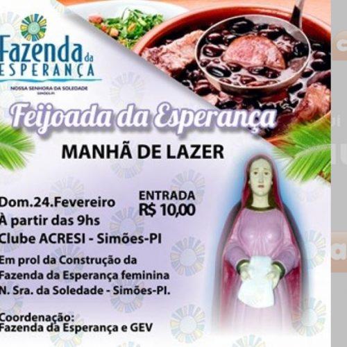 GEV realiza campanha para construção de Fazenda da Esperança feminina em Simões
