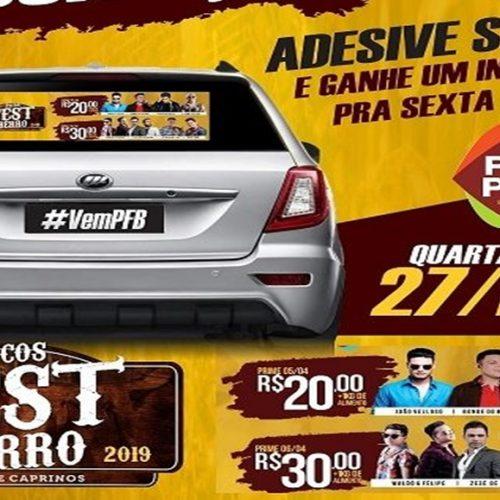 Adesive seu carro e ganhe ingresso para o Picos Fest Berro