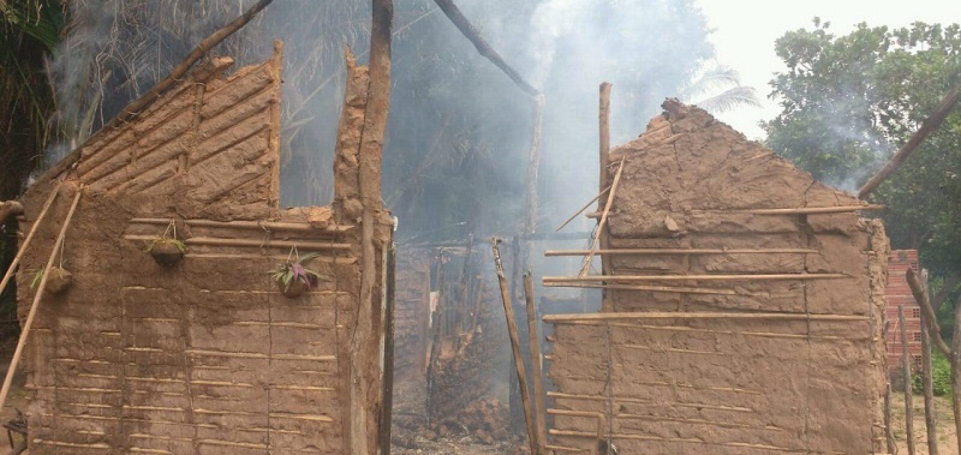 Homem é preso suspeito de atear fogo em casa com sua esposa e filhos dentro