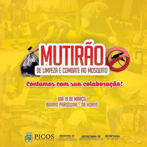 SEMAM de Picos realiza mutirão da limpeza no Paroquial