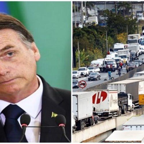 Bolsonaro faz live para tranquilizar caminhoneiros, clima é tenso sobre possível Greve neste sábado