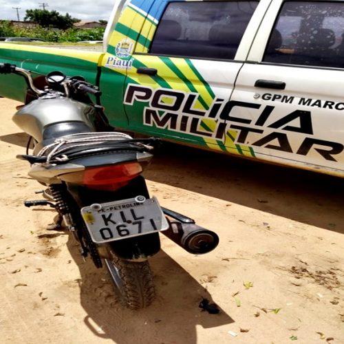 Polícia Militar de Marcolândia recupera moto roubada