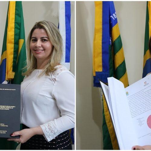 Prefeita Maria José recebe produtos finais dos Planos de Saneamento Básico e de Resíduos Sólidos