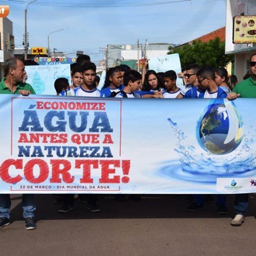 Escolas picoenses e SEMAM realizam caminhada pelo dia Mundial da Água