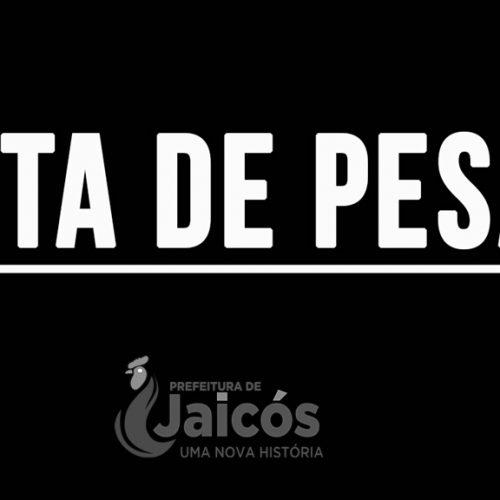 Prefeito de Jaicós divulga nota de pesar por morte de professora