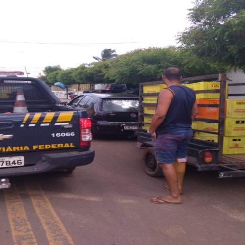 PRF de Picos prende cinco suspeitos de saque de carga