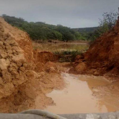 Açude rompe, mata animal e deixa prejuízos na zona rural de São Francisco de Assis do Piauí