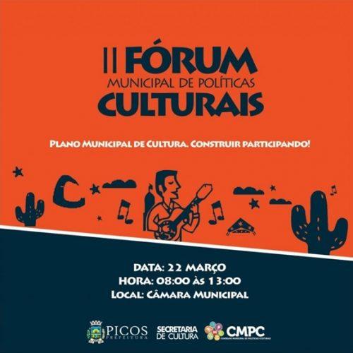 Prefeitura de Picos promoverá o II Fórum Municipal de Políticas Culturais