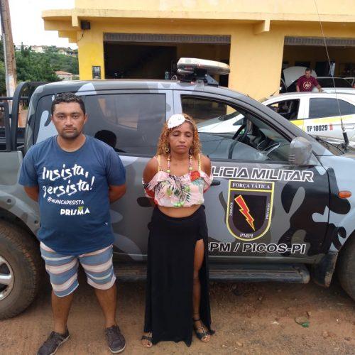 Casal rouba carro em Petrolina, mata vítima e vai curtir carnaval em Picos; foram presos pela PM