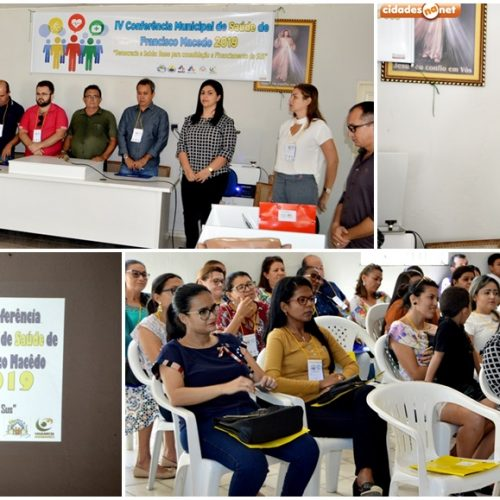 Francisco Macedo realiza 4ª Conferência Municipal de Saúde; fotos