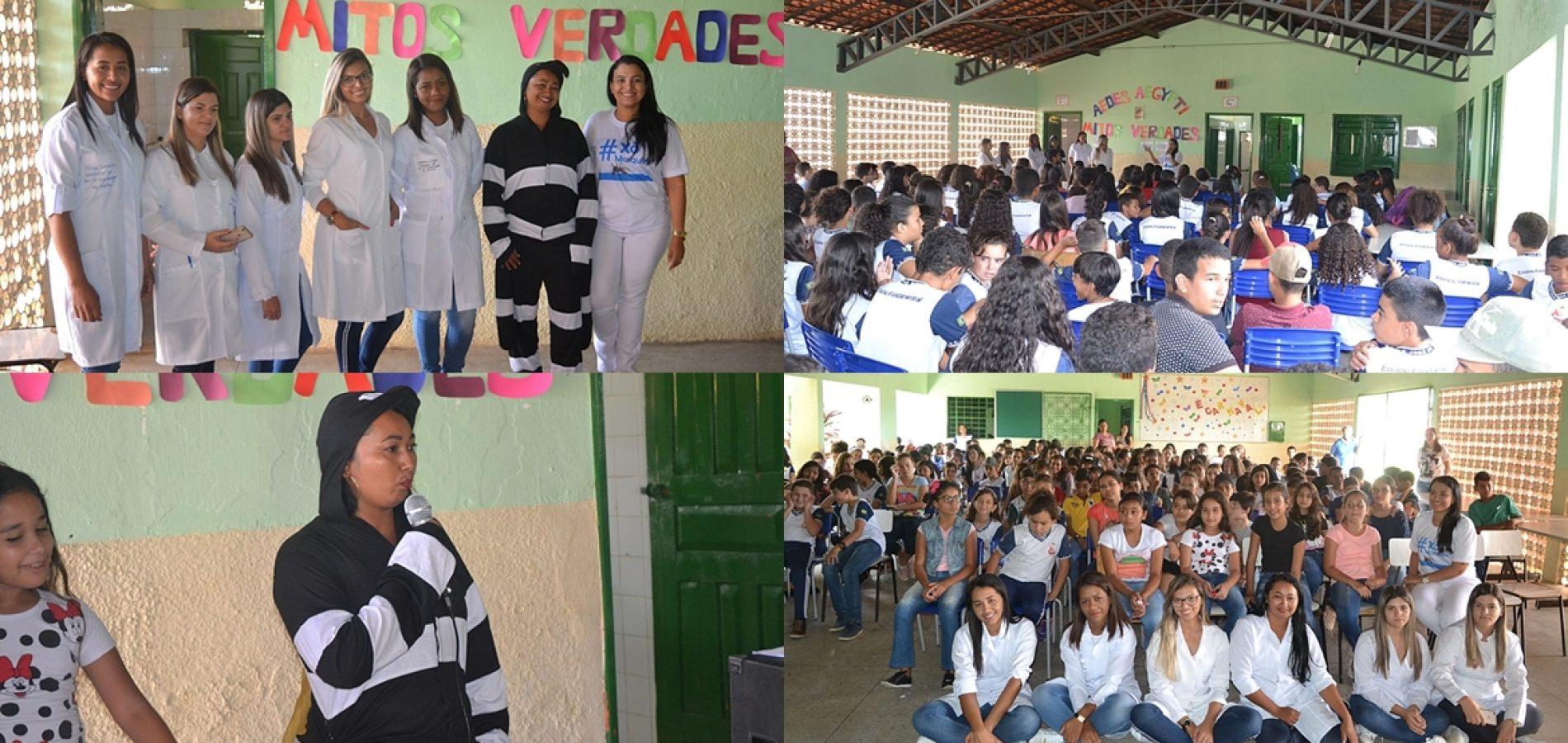 SIMÕES   Secretaria de Saúde realiza campanha contra o mosquito da dengue em escolas