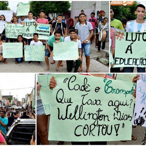 Pais e alunos protestam por falta de transporte escolar em Francisco Santos; veja fotos e vídeo