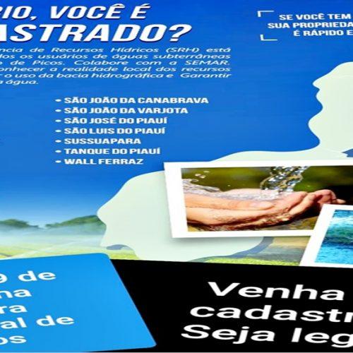 Semar realizará 2ª etapa do Cadastramento de Usuários de Água em Picos