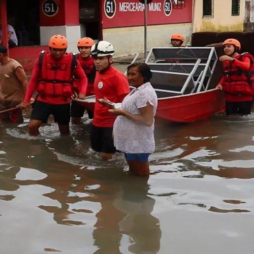 Sobe para 120 o número de famílias desabrigadas após chuvas no litoral do Piauí