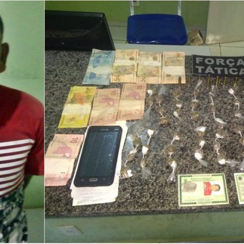 PM encontra homem com drogas, munição e dinheiro em Simplício Mendes