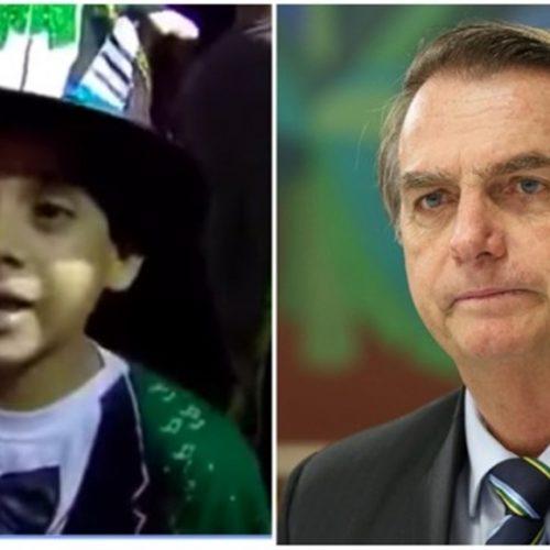 Garoto 'mita' ao fazer discurso 'contra' Bolsonaro e apresentador tem reação surpreendente