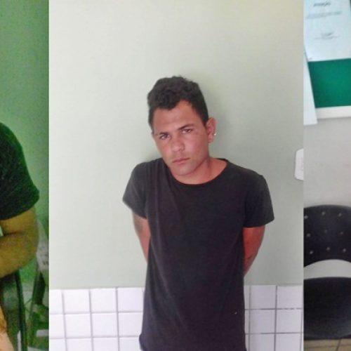 Três são presos por furto e mandado de prisão em aberto em Simões