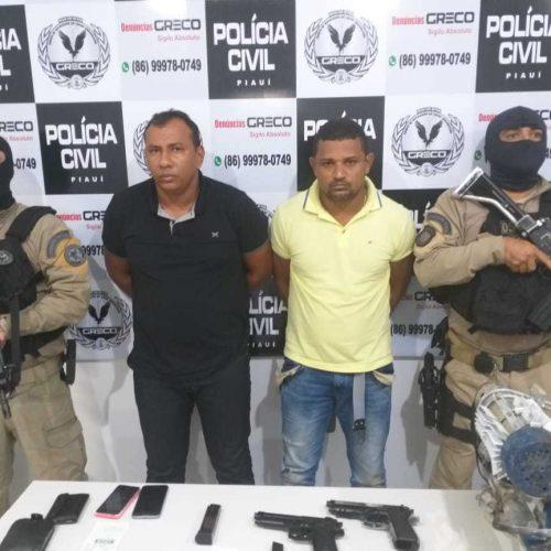 Veja quem são os presos acusados de sequestrar o gerente de banco no Piauí