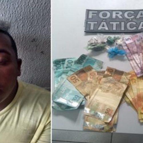 Traficante 'perigoso' é preso pela PM com drogas em cidade do Piauí