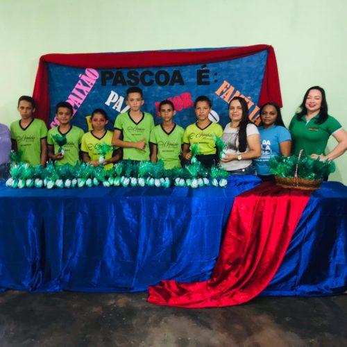 Educação de Vera Mendes comemoraPáscoa e entrega ovos de chocolate para 800 alunos