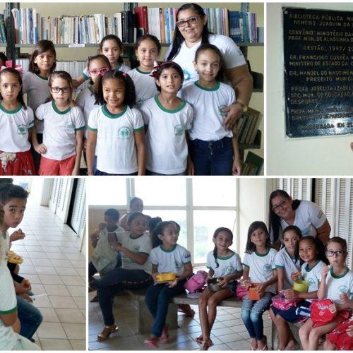 Em Alagoinha, alunos da Escola Francisco Teodoro de Brito visitam biblioteca