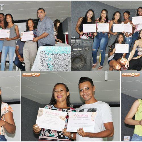 Prefeitura de Jaicós entrega certificados para participantes de cursos promovidos pelas secretarias de Cultura e Assistência Social