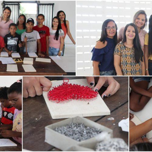 Assistência Social de Jaicós promove curso de artesanato para adolescentes do Serviço de Convivência