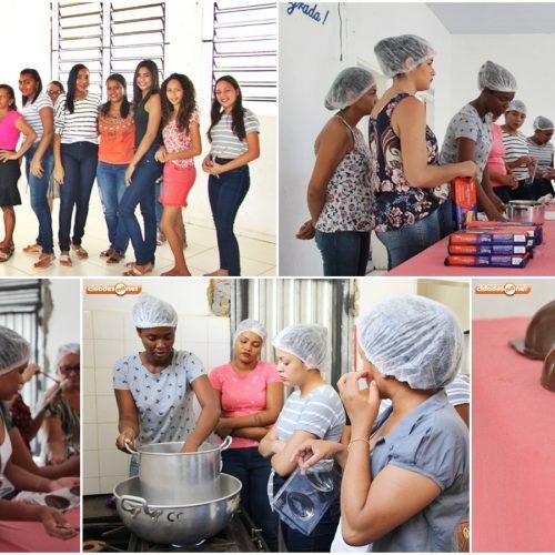 Cultura e Assistência Social de Jaicós promovem oficina de produção de ovos de chocolate
