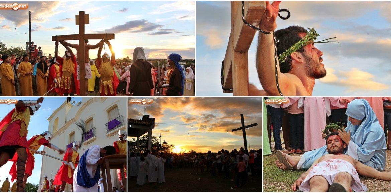 Via-Sacra encenada pela Pastoral da Juventude relembra crucificação e morte de Jesus e emociona fiéis em Jaicós