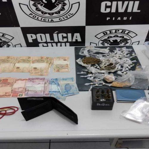 Polícia apreende drogas e munições no Piauí, mas traficante consegue fugir