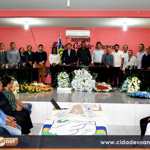 Sessão na Câmara de Marcolândia marca adeus ao ex-prefeito Lafaiete; familiares e autoridades prestam últimas homenagens