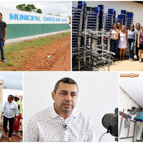 Educação de Jaicós recebe mais de 1.500 kits de carteiras e escolas são melhoradas