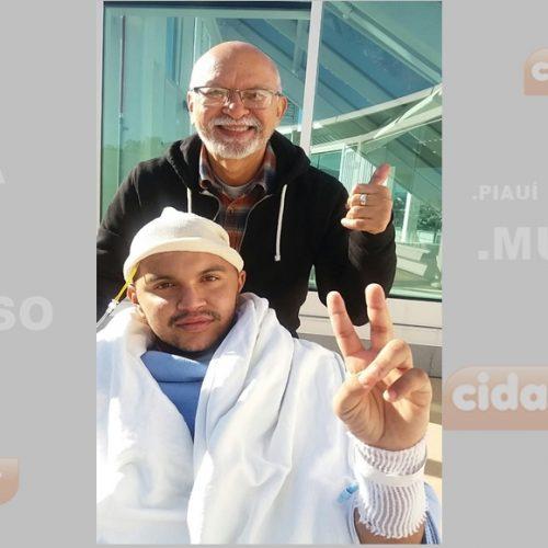 Jovem do Piauí que sobreviveu a acidente nos EUA deixa UTI de hospital e surpreende médicos