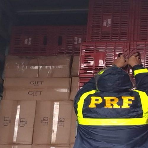 PRF apreende R$ 2,5 milhões em cigarros contrabandeados no Piauí
