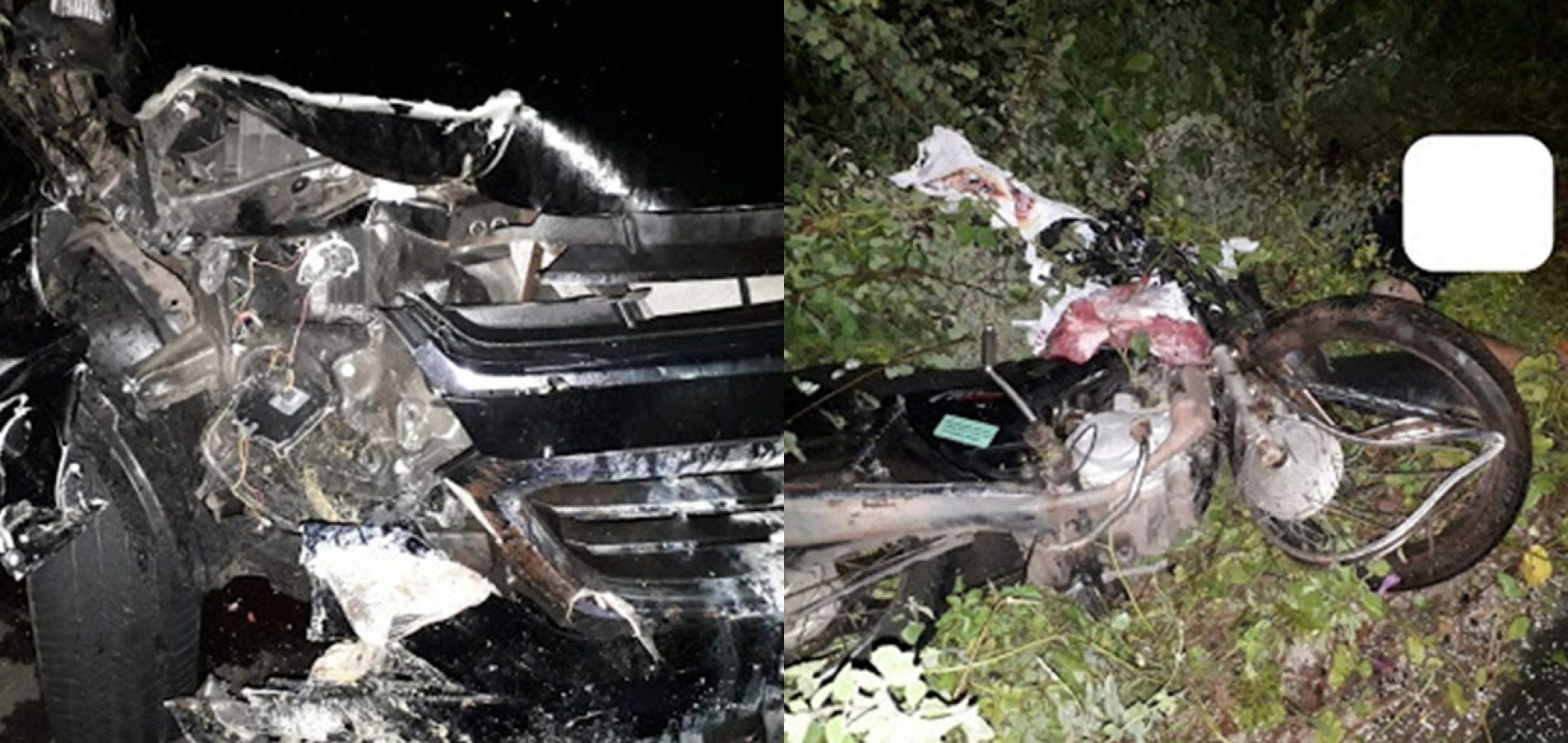 Colisão entre picape S10 e moto deixa uma pessoa morta e outra ferida no Piauí