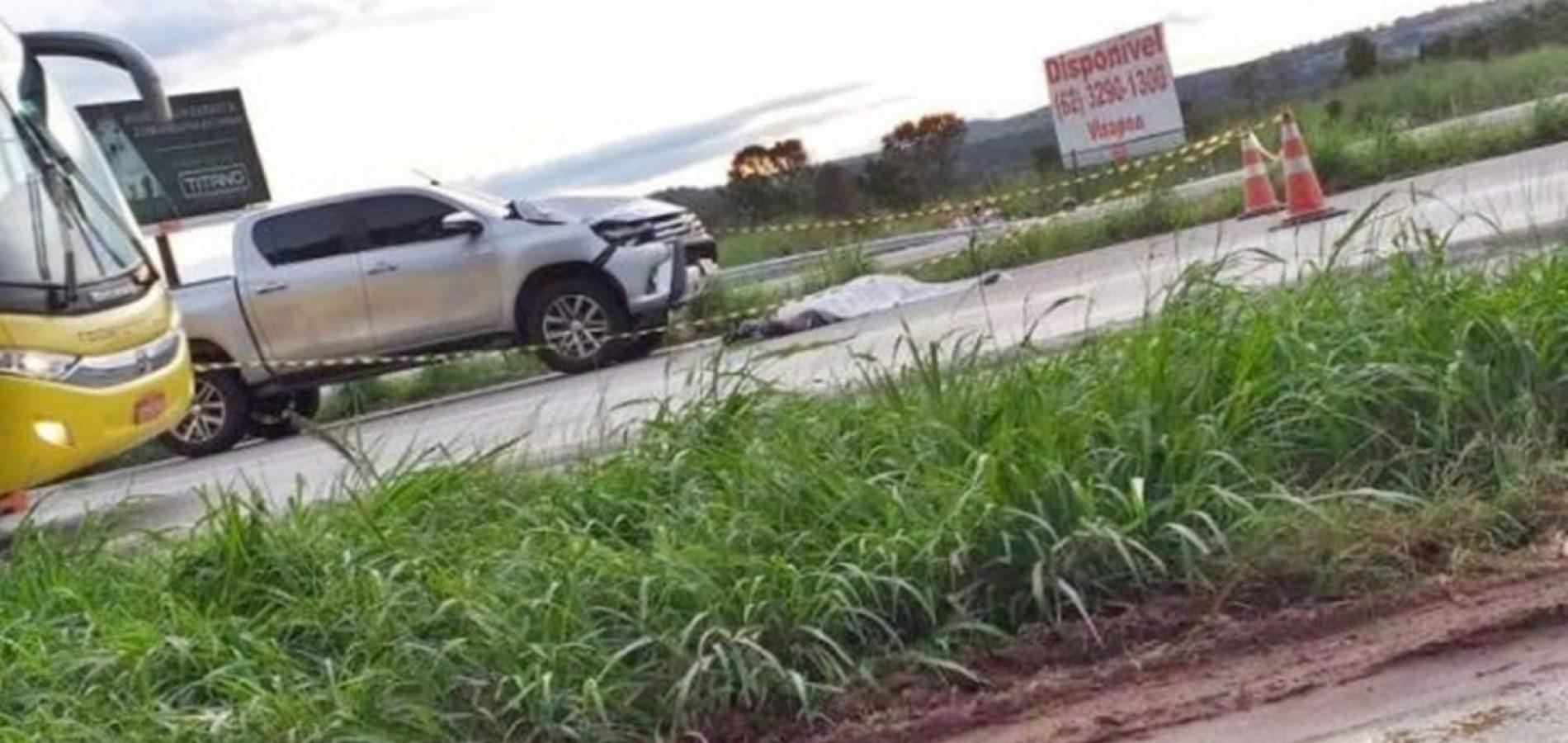 Piauiense morre após ser atropelado por caminhonete em Goiânia