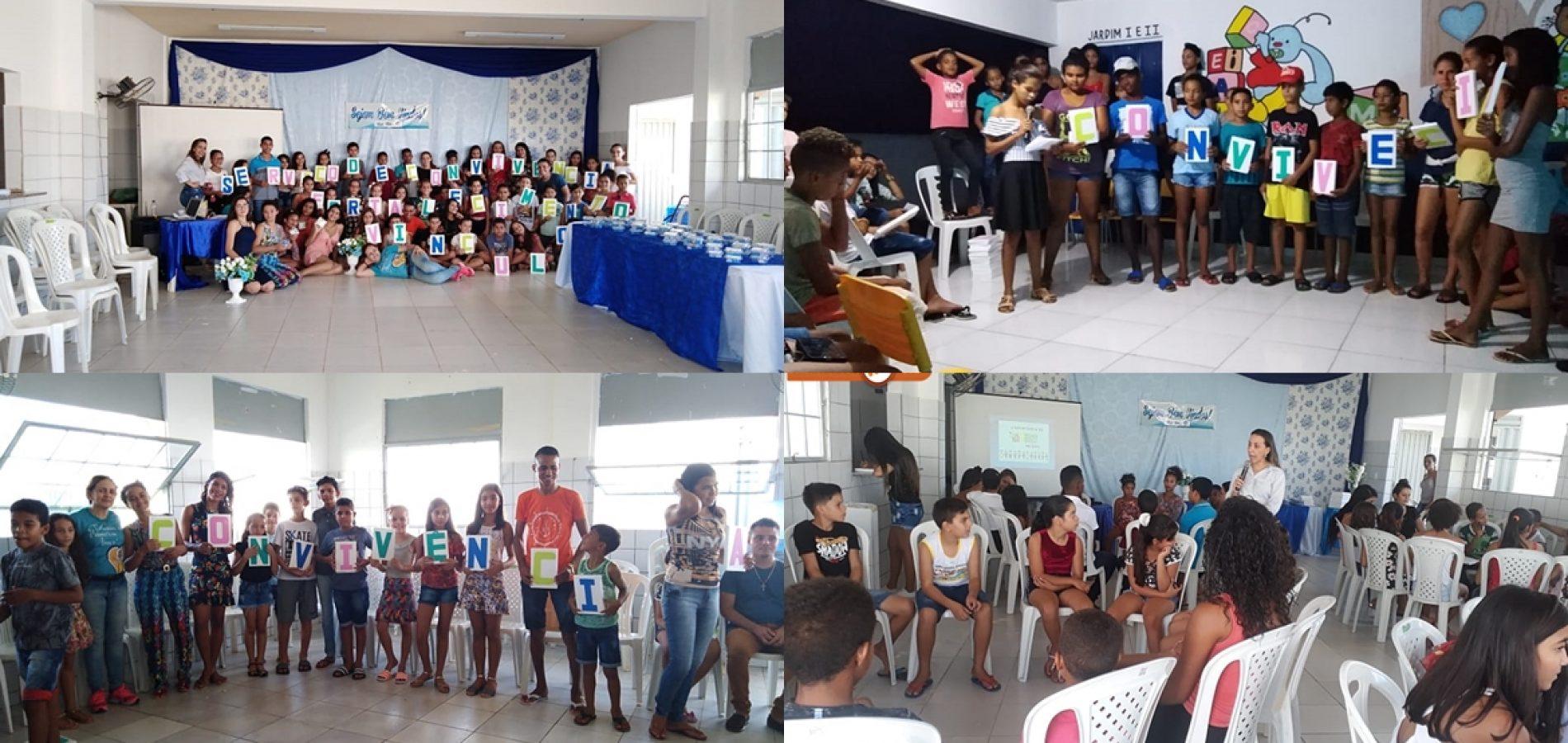 Social de Caridade realiza atividades com jovens do  Serviço de Convivência