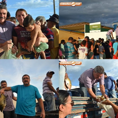 Prefeitura de Simões faz distribuição de 3 mil kg de peixe e beneficia famílias carentes